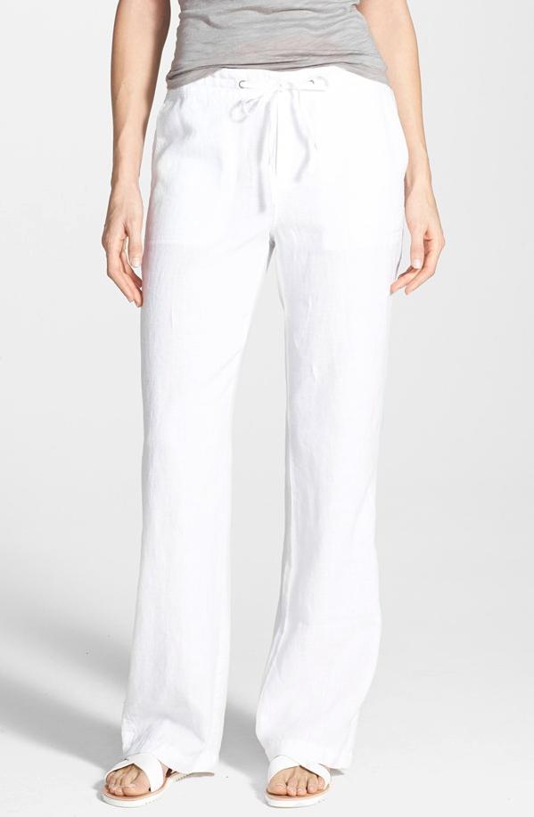 Summer Fashion - Caslon Drawstring Linen Pants