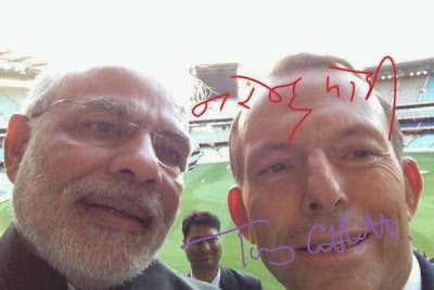 Prime Minister Modi with his Australian counterpart Tony Abbott
