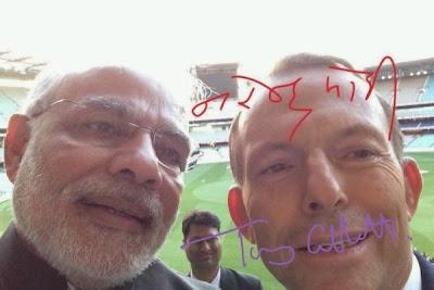 Prime Minister Modi with his Australian counterpart Tony Abbott