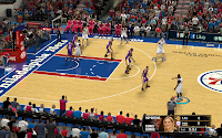 NBA 2K13 Philadelphia 76ers Court Patch