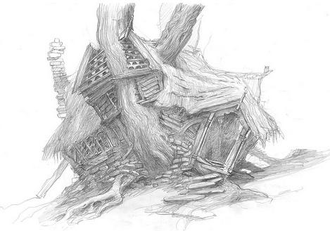 korzen is in the garden la maison de radagast le brun le hobbit tolkien. Black Bedroom Furniture Sets. Home Design Ideas