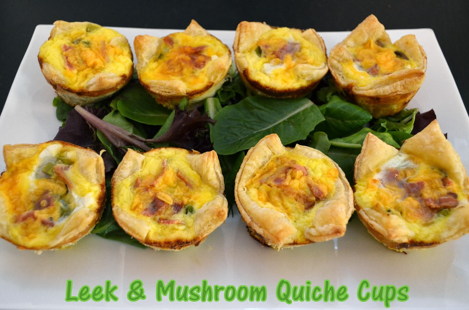 Flavors by Four: Leek and Mushroom Quiche Cups