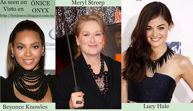 As seen on / Visto en Celebrities, onice, onix, lucy hale, beyonce, beyonce knowles, mery streep