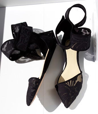 Amina Abdul Jiliil flat sandals with lace and origami bows