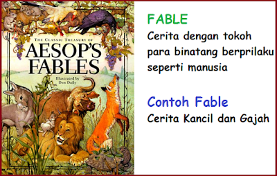 contoh narrative text fable AESOP