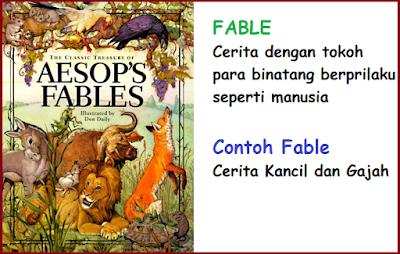 contoh narrative text fable AESOP