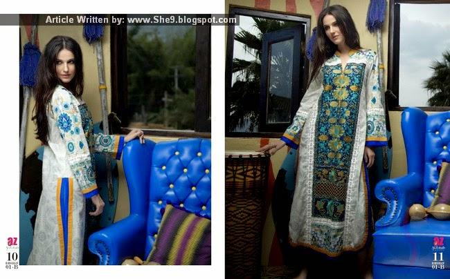 Zanisha by Al-Zohaib - Embroidered Kurti Collection 2015