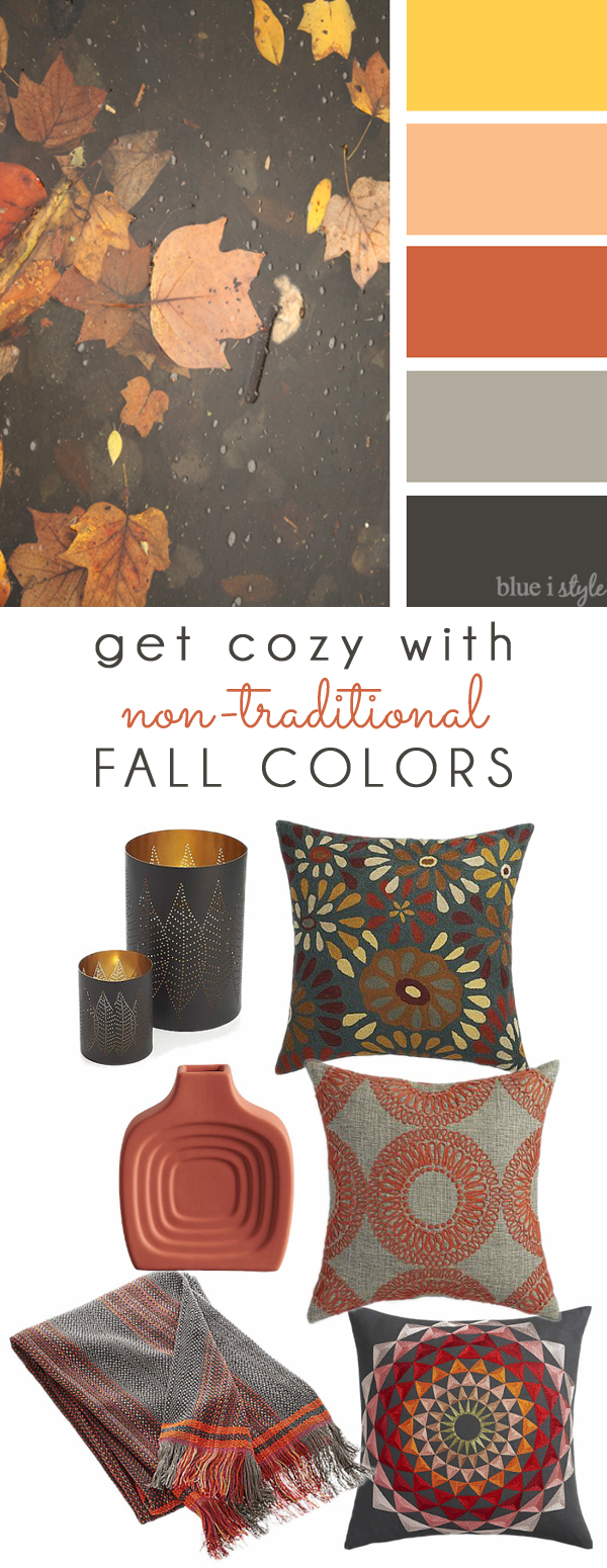Coral, Orange and Gray Fall Color Mood Board