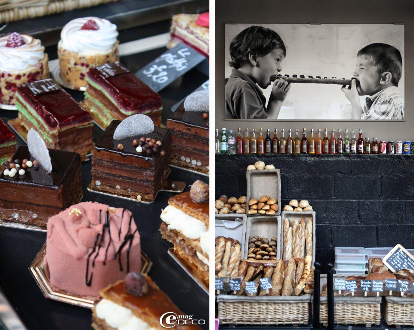 Pâtisseries et espace boulangerie du Comptoir Loranger