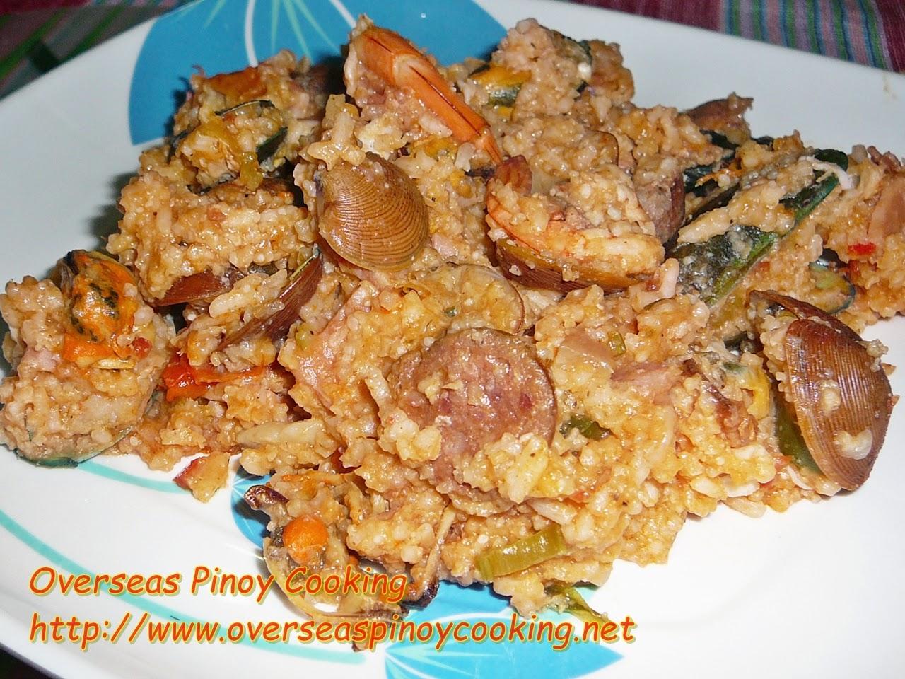Pinoy Seafood Jambalaya