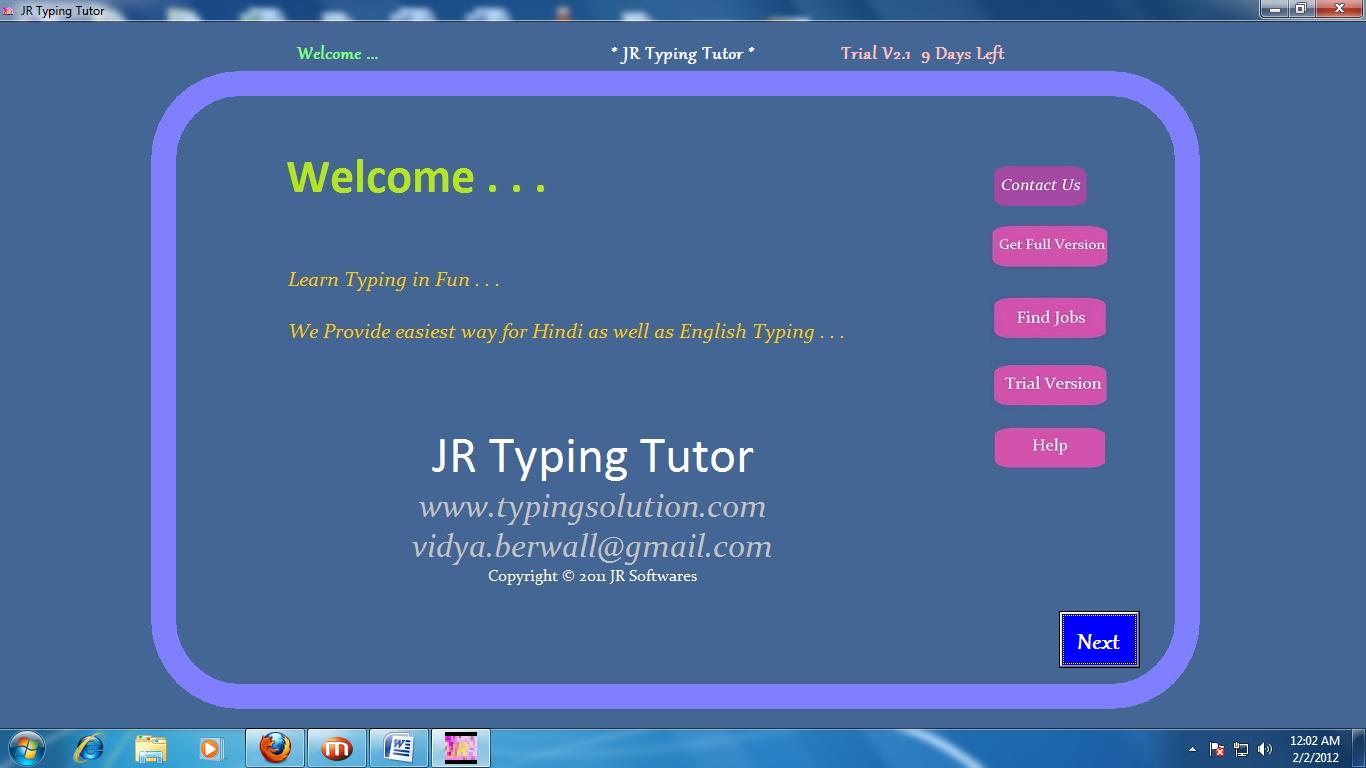 Jr Hindi typing Tutor Crack Version Of tally Erp