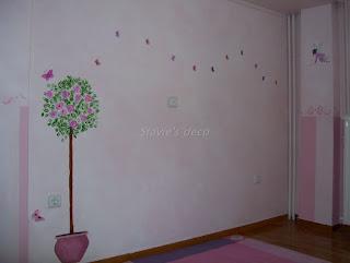 διακόσμηση παιδικού δωματίου,ζωγραφική