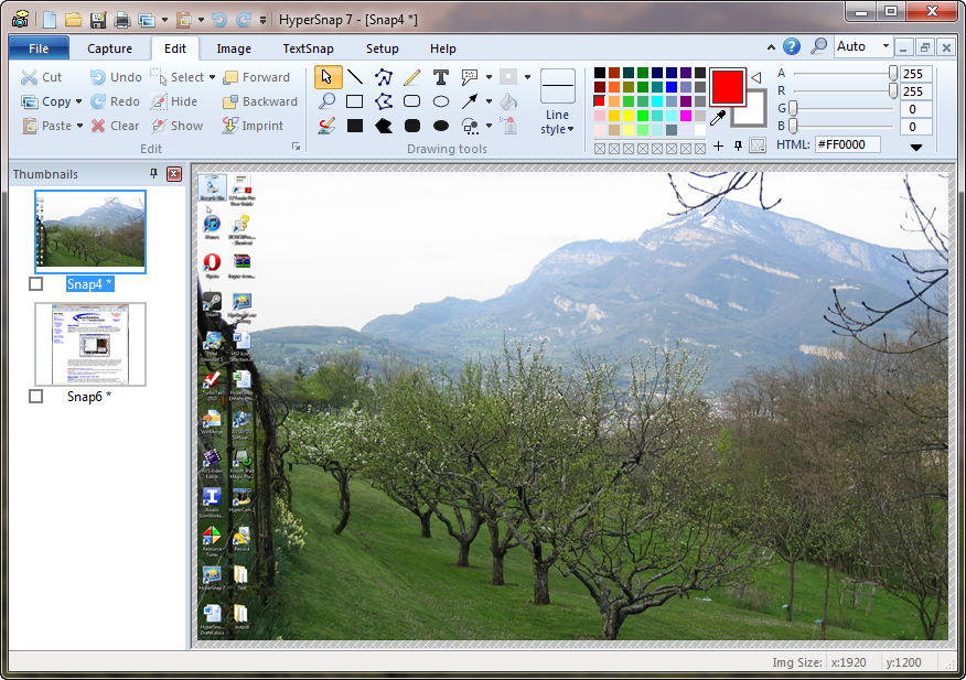 برنامج تصوير و عمل دروس وشروحات بالصور Hyperionics HyperSnap 7.12.00
