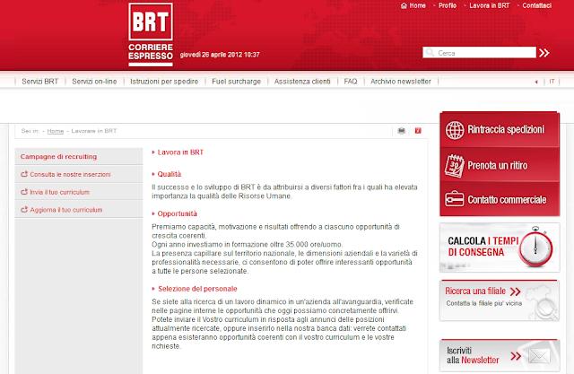 lavora con noi Bartolini Corriere Espresso BRT