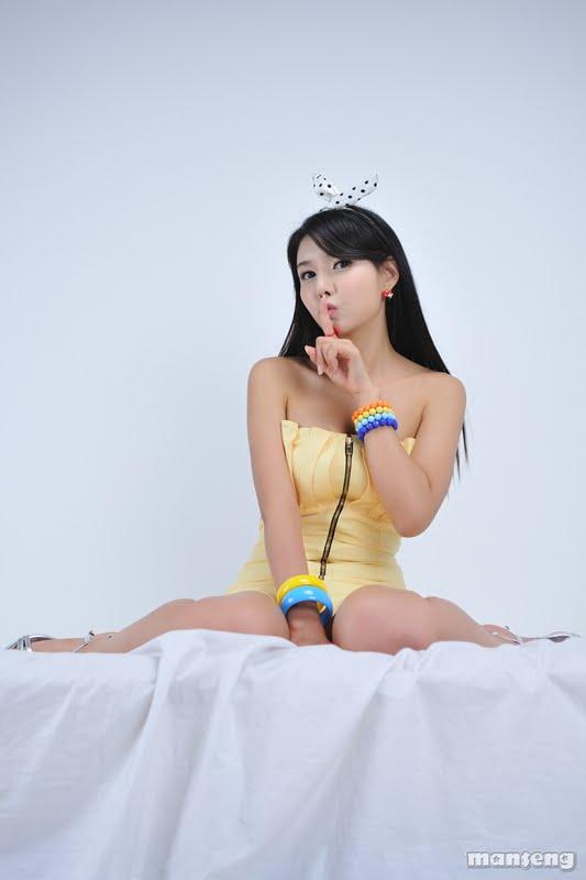 Cha Sun Hwa Lovely in Yellow Mini Dress