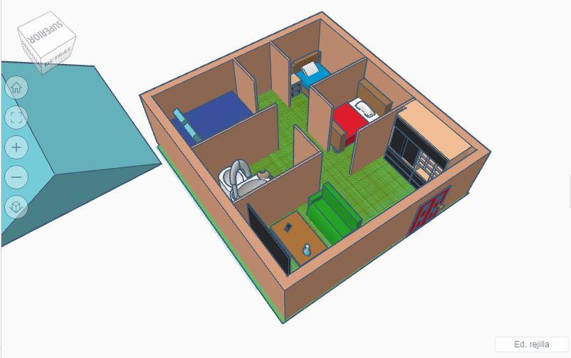 Cuaderno de trabajo de 3º C: Diseño casa de Manuel David Álvarez