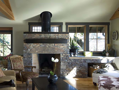 Classical Contemporary Stone House Exterior Natural Wood Interiors Appeal Design