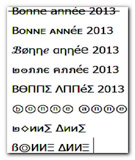Symbole Bonne année 2013