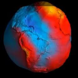 Mapa da gravidade da Terra 3