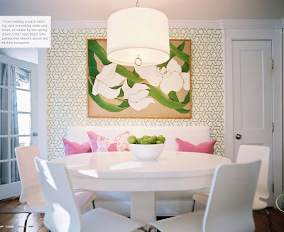 The green room interiors chattanooga tn interior - Dining table against the wall ...