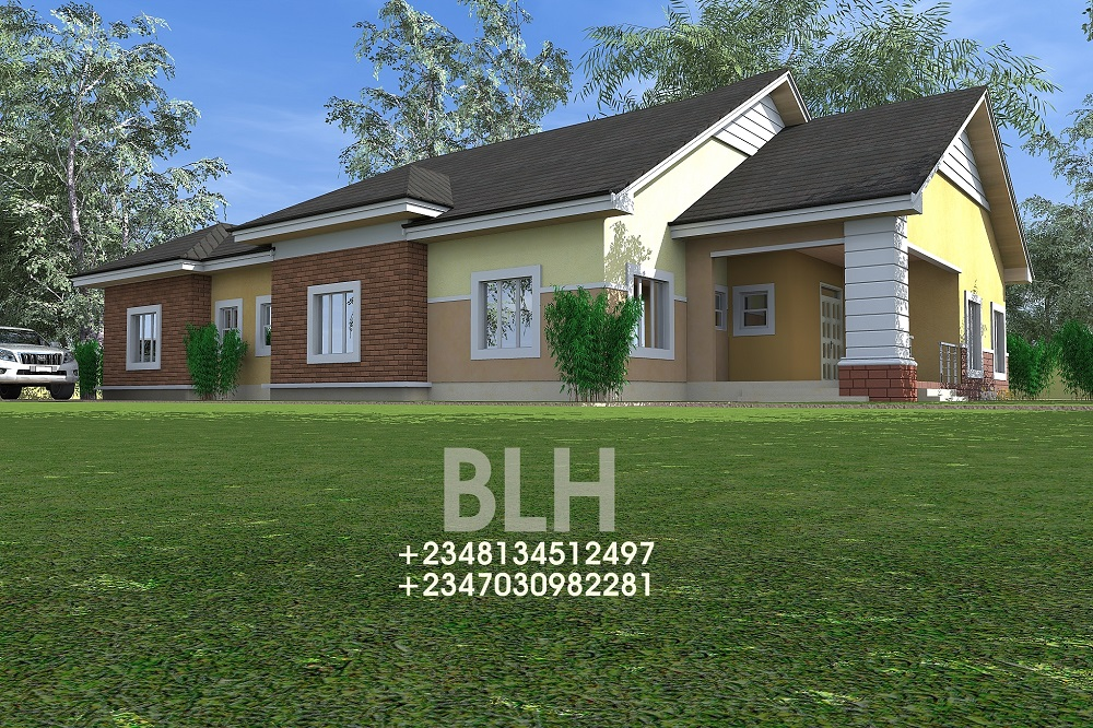 Architectural designs by blacklakehouse 4 bedroom for 4 bedroom bungalow architectural design