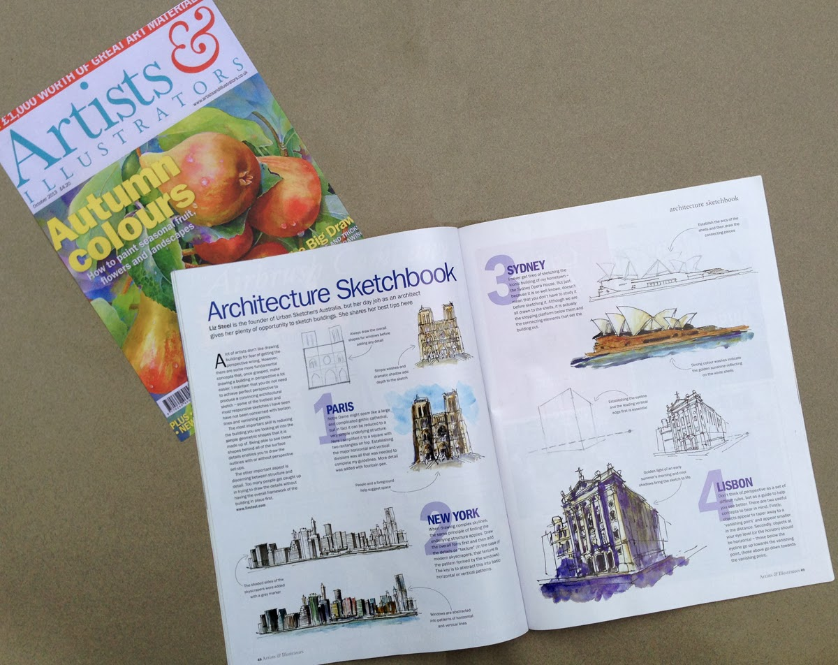 I Am Pleased To Share My Article On Sketching Architecture That Wrote For The UK Magazine Artists Illustrators Very Thankful One Of Blog
