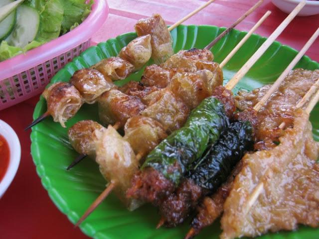 Xiên nướng thơm ngon Phú Yên