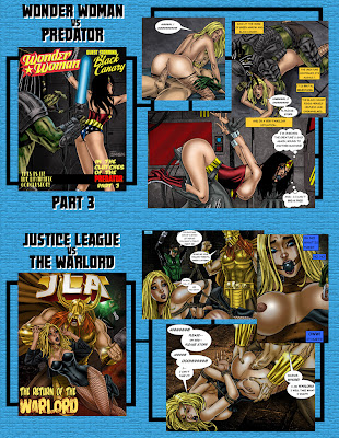 Sexy DC  Wonder Woman Black Canary Superheroine XXX comic book page
