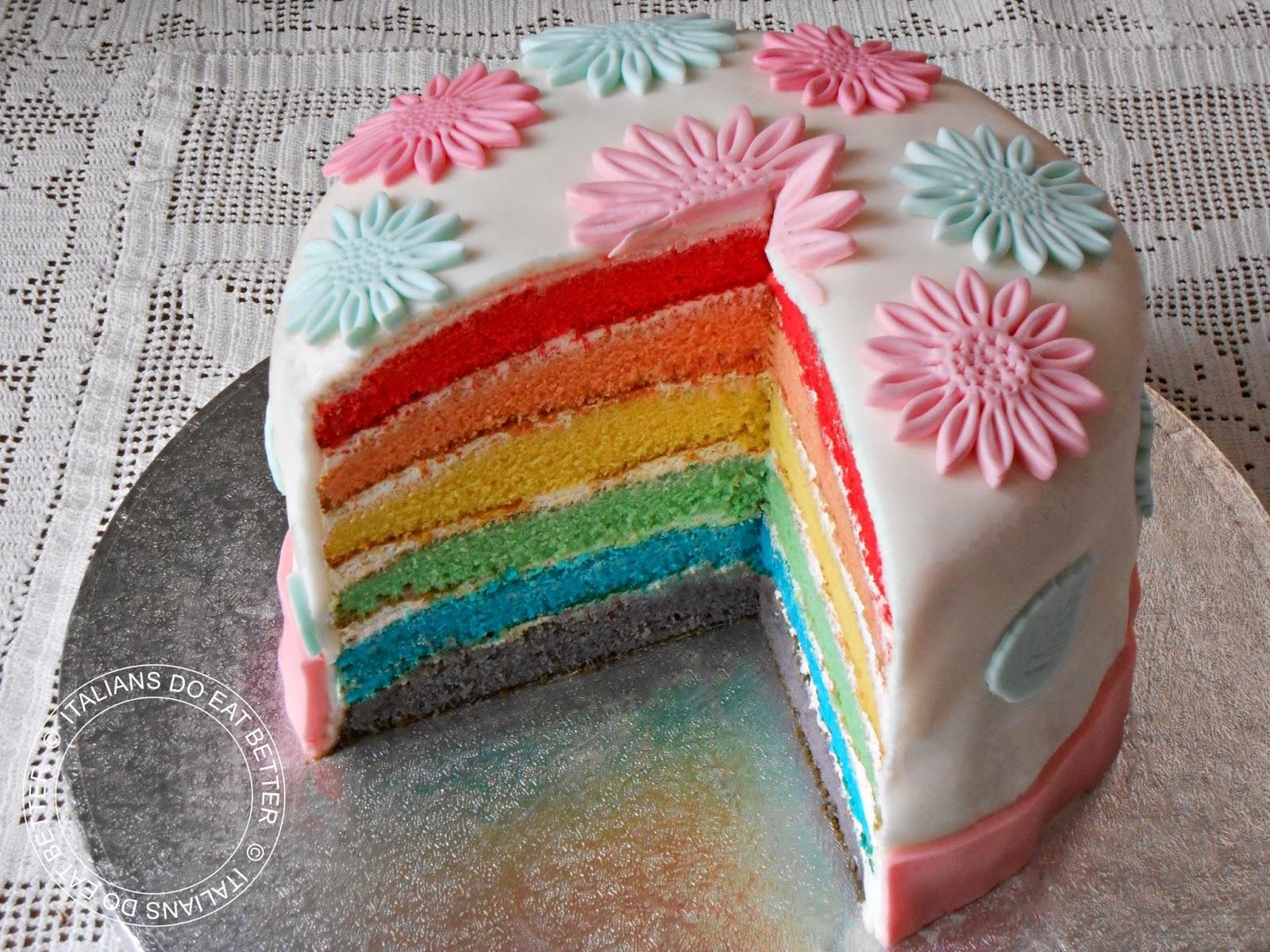 Victoria Sponge Rainbow Cake