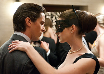 bruce wayne, selina kyle in mask, christian bale, anne hathway, The Dark Knight Rises, Directed by Christopher Nolan