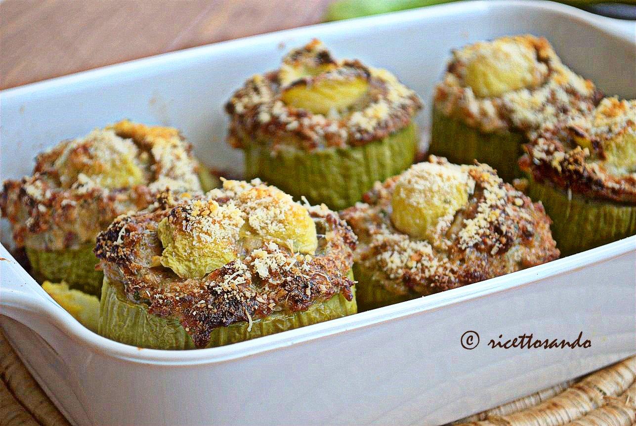Zucchine ripiene ricetta di verdura farcita e gratinata a forno