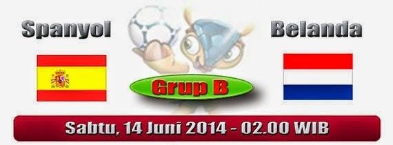 Prediksi Skor Spanyol Vs Belanda 14 Juni 2014, Piala Dunia