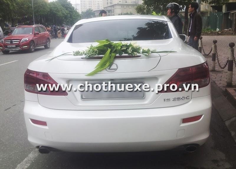Cho thuê xe cưới Lexus IS250C mui trần màu trắng 3
