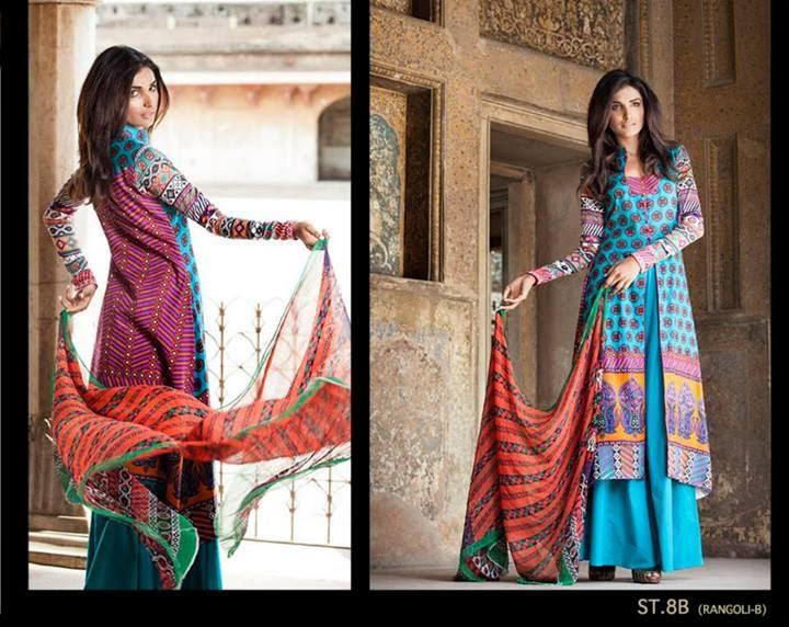Zainab Chottani by Shariq Textile 2014 featuring Amna Ilyas