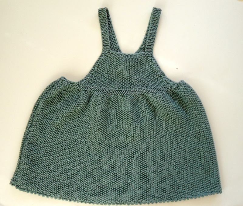 Knitting Dress Pattern : Baby Pinafore Dress Pattern Knitted images