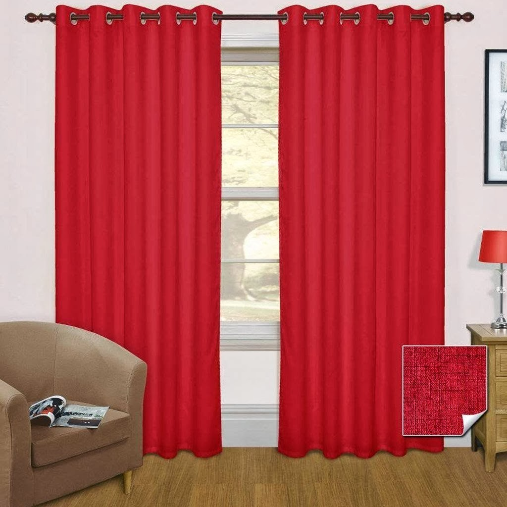 Wine Shade Thermal Blackout Eyelet Curtain Pair title=
