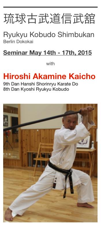 ** Berlin Kobudo Seminar 2015 **