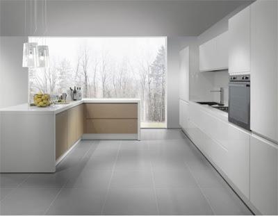 contemporary kitchen design in white
