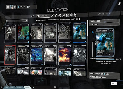 Warframe - Fusing With Duplicates