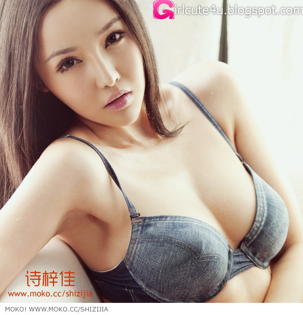 Shi-Zi-Jia-Denim-Lingerie-08-very cute asian girl-girlcute4u.blogspot.com
