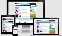 Template blogger 3 kolom responsive fast loading