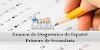 Examen de Diagnóstico de Español para Primero de Secundaria