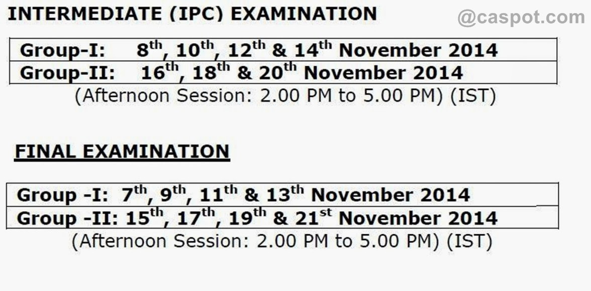 date-sheet-of-ca-nov-2014-exams