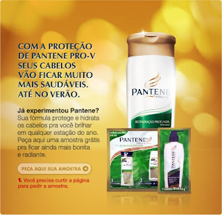 Amostra Grátis Shampoo Pantene no Facebook