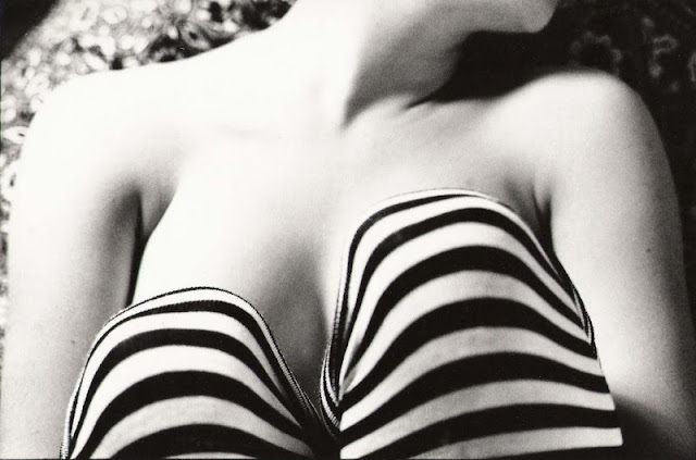 analog-stripes-stockings-model