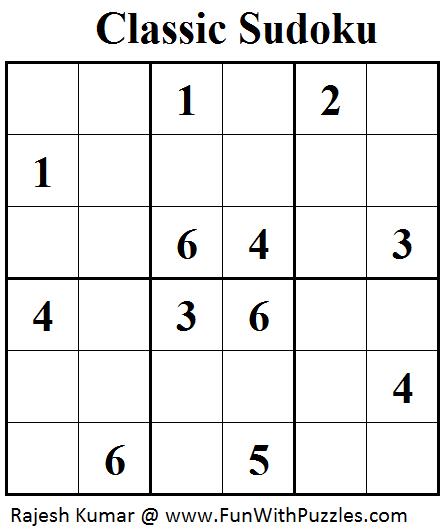 Classic Sudoku (Mini Sudoku Series #41)