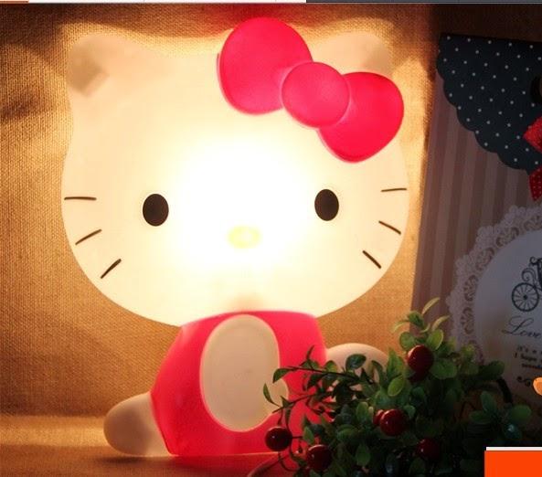 Gratis gambar lampu tidur hello kitty