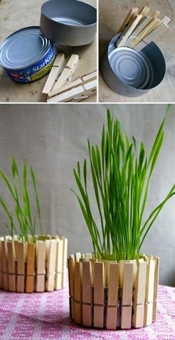 Inspiracje w moim mieszkaniu diy doniczkowe pomys na for Flower pot making with waste material