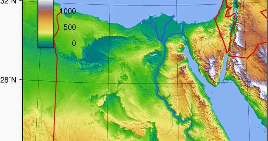Egypt Physical Map Images Free Printable Maps - Egypt physical map