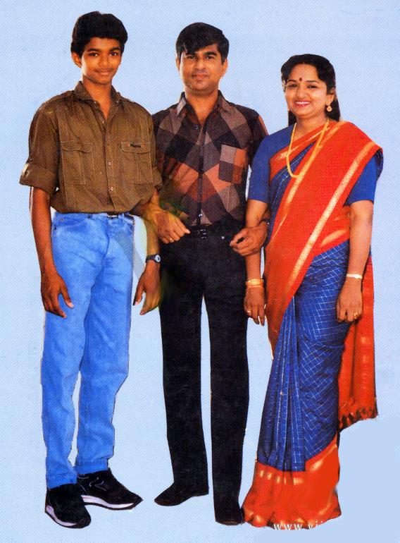 Tamil Actor Vijay Family Photo